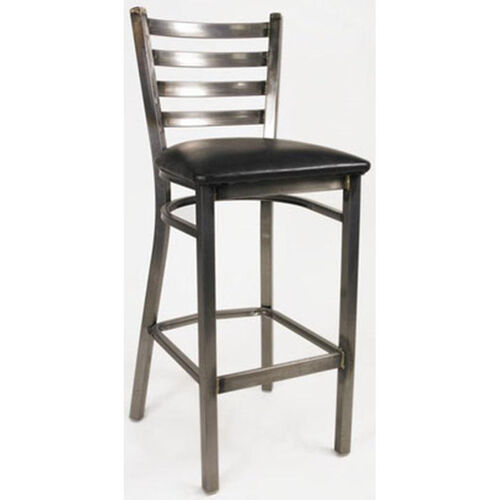 Our White Horse Ladder Back Armless Barstool with Steel Frame and Vinyl Seat is on sale now.