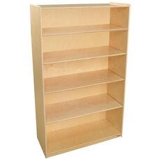 Wooden 5 Shelf Bookcase with 4 Adjustable Shelves - 36