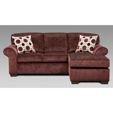 Worcester Transitional Style Polyester Queen Sleeper Sofa - Prism Elderberry