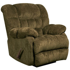 Contemporary Columbia Mushroom Microfiber Rocker Recliner with Thick Tufted Back