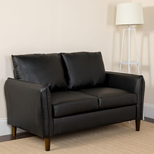 Milton Park Upholstered Plush Pillow Back Loveseat