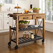 Roots Rack Industrial Kitchen Cart - Natural