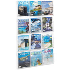Reveal™ Twelve Compartment Magazine Display - Clear