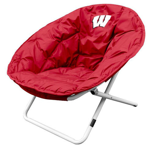 University of Wisconsin Team Logo Folding Sphere Chair