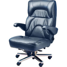 Chairman Office Chair with Wrap Around Headrest- Leather