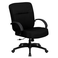 HERCULES Series Big & Tall 400 lb. Rated Black Fabric Executive Swivel Ergonomic Office Chair with Arms