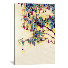 Sun Tree by Egon Schiele Gallery Wrapped Canvas Artwork with Floating Frame - 19