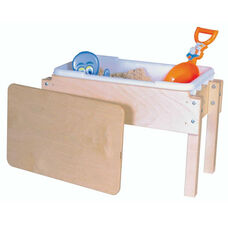 Petite Tot Sand and Water Sensory Table with Lid and 2 Castered Legs - 28