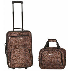 Rockland 2 Pc. Luggage Set - Blue Leopard