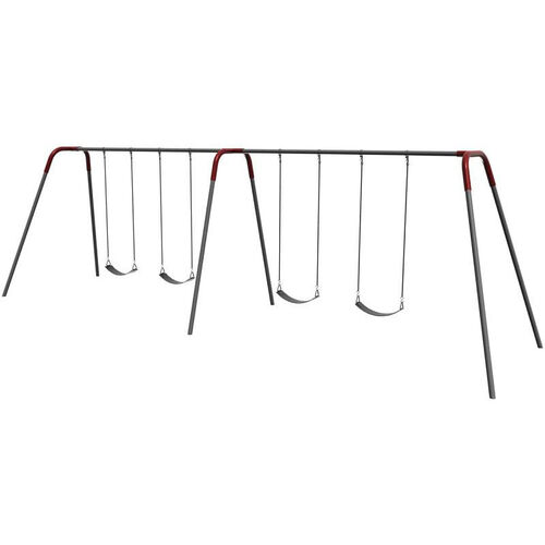 Four Seat Modern Bipod Swing Set with Galvanized Swing Chains and Thirteen Gauge Steel Frame - 96