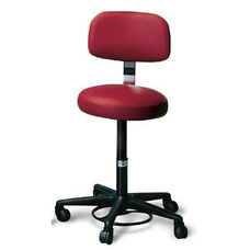 Foot Controlled Adjustable Height Air-Lift Stool with Backrest