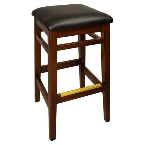 Our Trevor Mahogany Wood Backless Barstool - Vinyl Seat is on sale now.