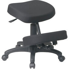 Work Smart Ergonomically Designed Knee Chair with 5 Star Base and Memory Foam- Black