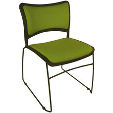 Quick Ship Stax Upholstered Seat and Back Stacking Chair