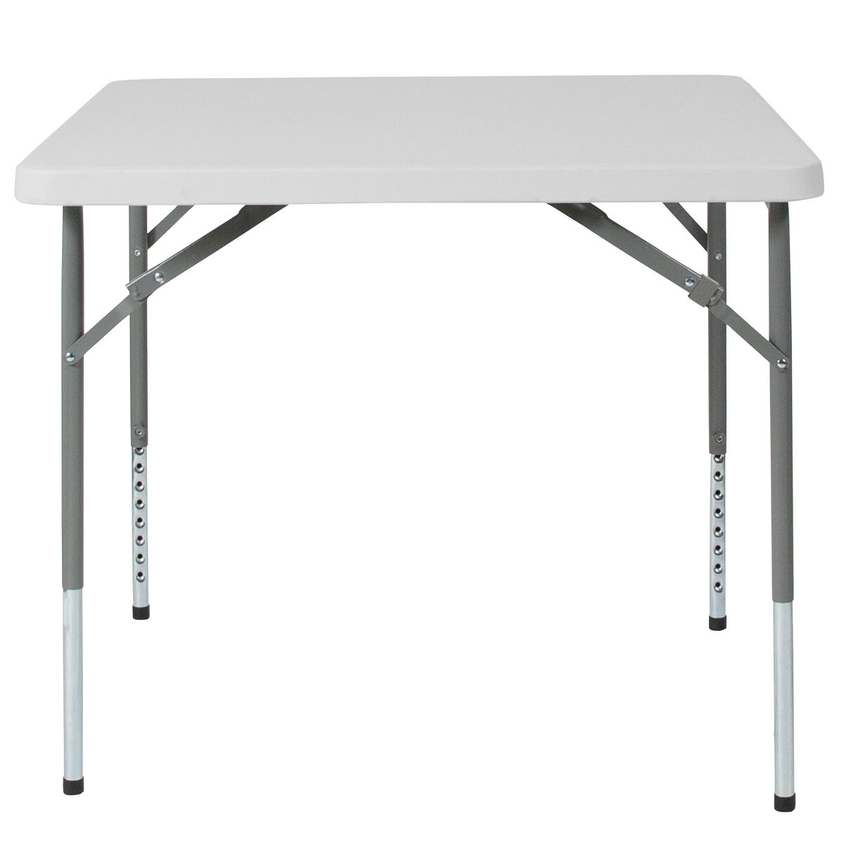 Our 34 Square Height Adjule Granite White Plastic Folding Table Is On Now