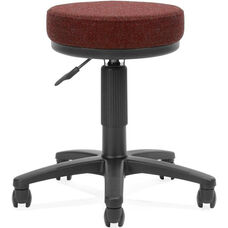 Adjustable Height UtiliStool with Stain Resistant Fabric - Burgundy