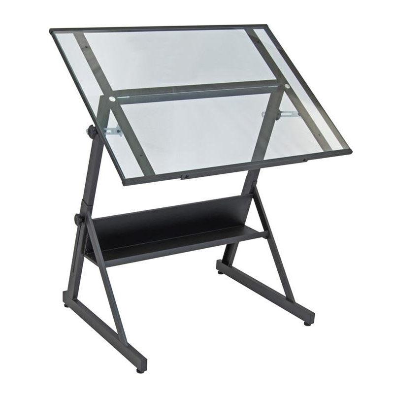 ... Our Solano 42u0027u0027W X 29.5u0027u0027D Adjustable Height Drafting Table With ...