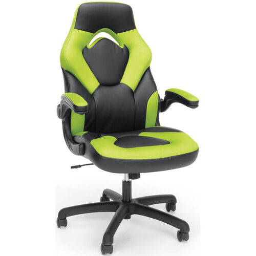 Our Essentials Racing Style Leather Gaming Chair - Green is on sale now.