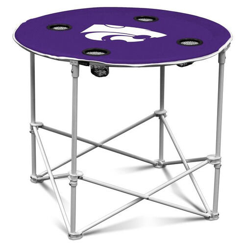 Kansas State University Team Logo Round Folding Table