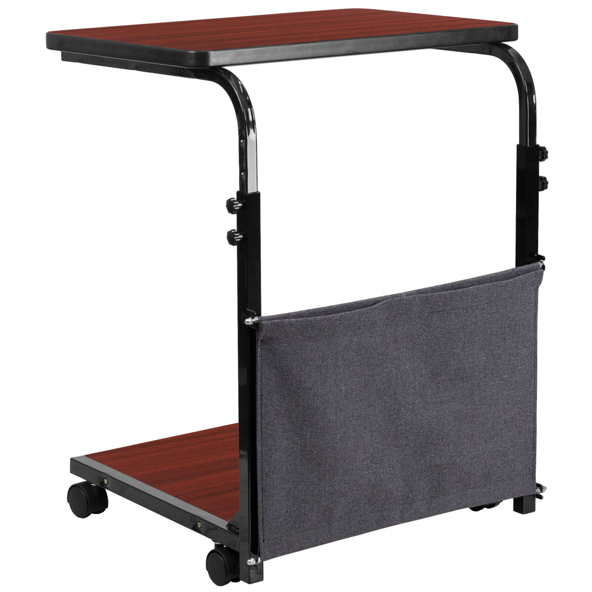 Flash Furniture Mobile Sit Down Stand Up Mahogany