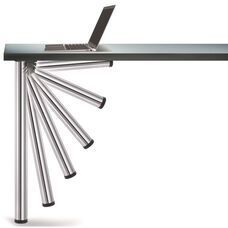 Chrome Push-Button Set of 4 Foldable Table Legs with Mounting Hardware - 27.75