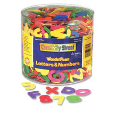 Chenille Kraft Company Wonderfoam Tub of Letters/Numbers - Assorted - 1500 Pieces