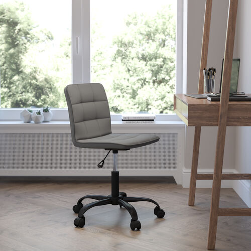 Sorrento Home and Office Armless Task Office Chair with Tufted Back/Seat
