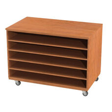 Storage Solution Paper Cabinet with Fixed Shelves with Casters - 36