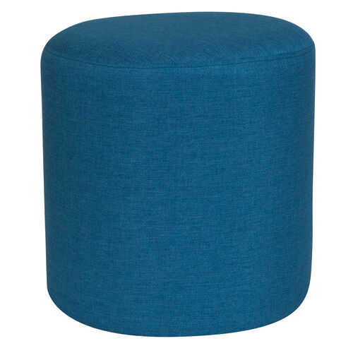 Our Barrington Upholstered Round Ottoman Pouf in Blue Fabric is on sale now.