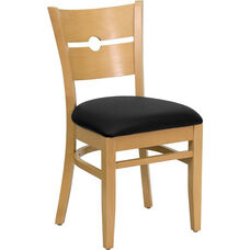 Coin Back Side Chair in Natural Wood Finish