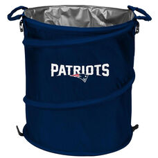 New England Patriots Team Logo Collapsible 3-in-1 Cooler Hamper Wastebasket
