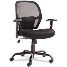 Alera® Merix450 Series Mesh Big/Tall Mid-Back Swivel/Tilt Chair - Black