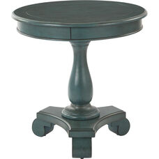 Inspired By Bassett Avalon Hand Painted Round Accent Table - Caribbean