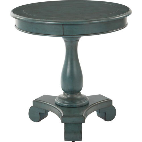Our Inspired By Bassett Avalon Hand Painted Round Accent Table - Caribbean is on sale now.