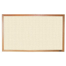 700 Series Tackboard with Wood Frame - Fabricork - 36