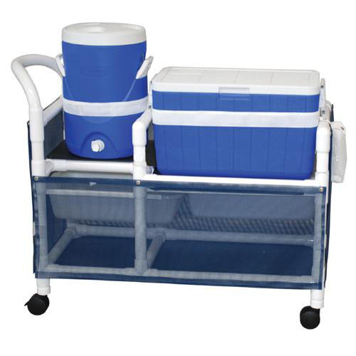 Hydration Cart with 48 Quart Ice Chest and 5 Gallon Water Cooler with Casters - 20