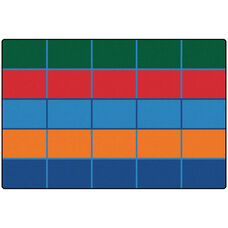 Kids Value Color Blocks Value Seating Rectangular Nylon Rug - 72
