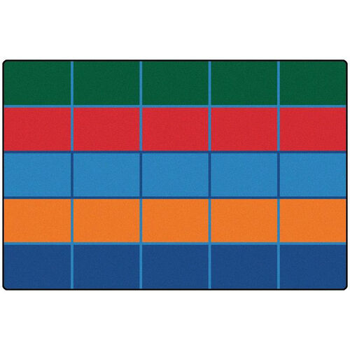 Our Kids Value Color Blocks Value Seating Rectangular Nylon Rug - 72