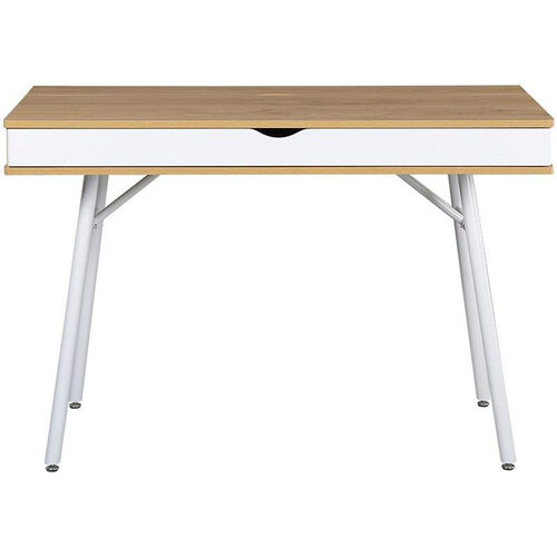 Techni Mobili Designer Computer Workstation with Cord Management and Storage - Pine