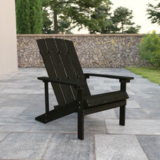 Charlestown All-Weather Poly Resin Wood Adirondack Chair in Slate Gray