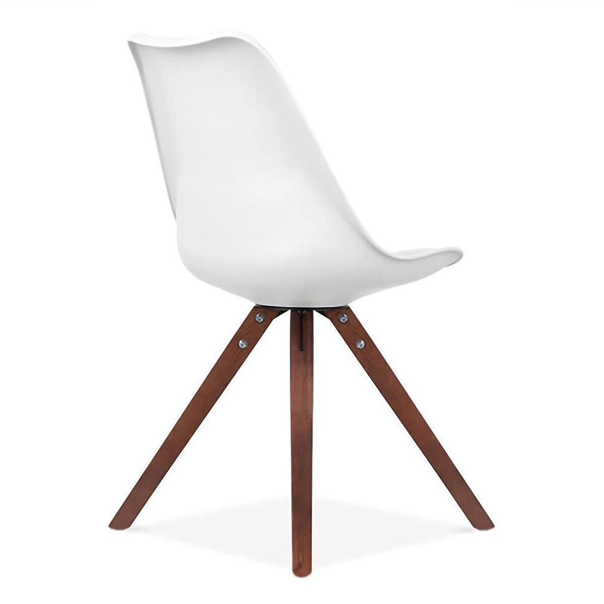 Set Of 2 White Side Chair Ls 1000 Whtwal Bizchair Com