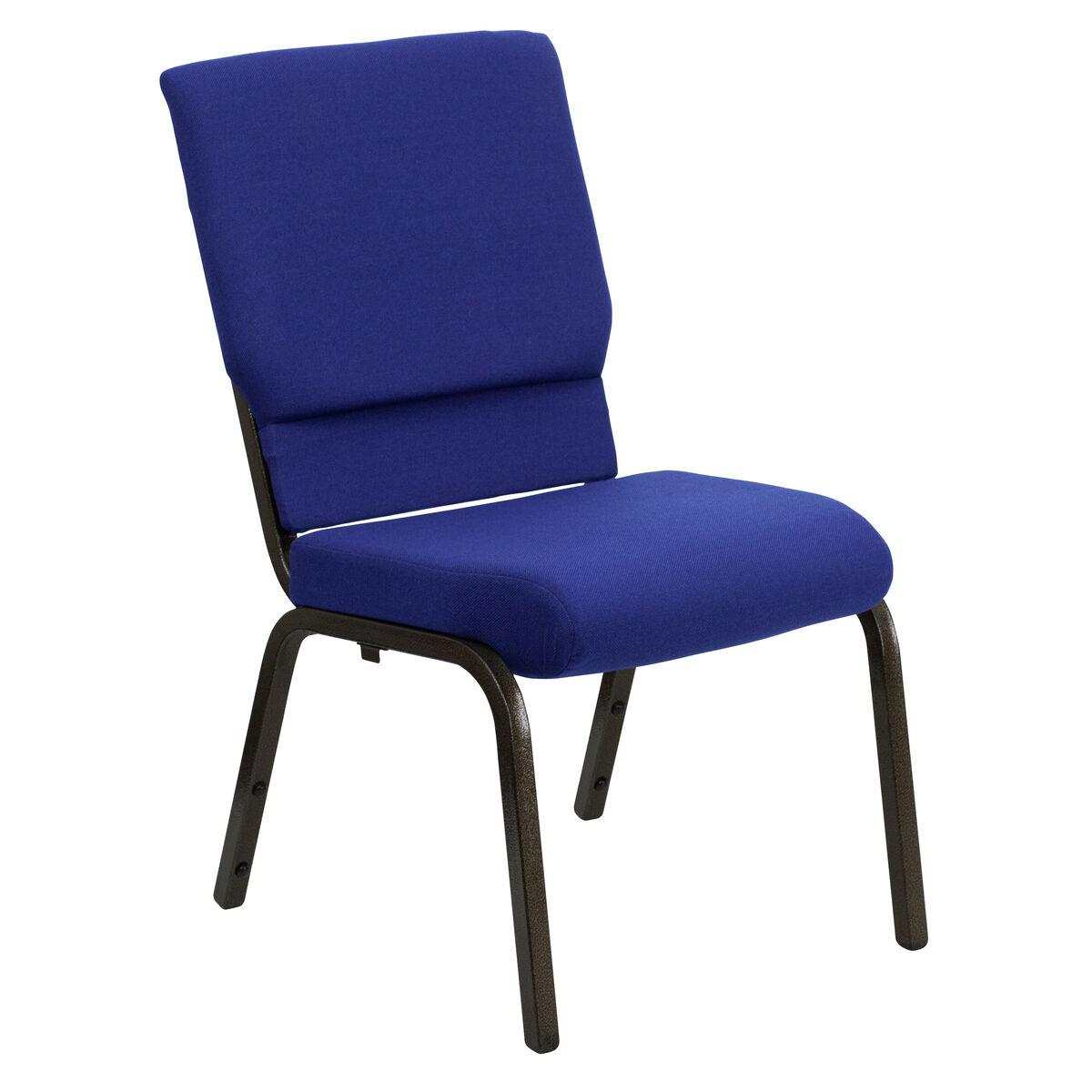 Blue Fabric Church Chair Xu Ch 60096 Nvy Gg Bizchair Com