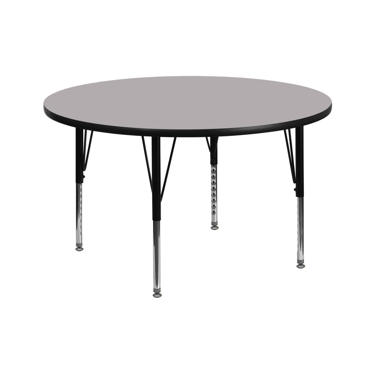 Flash furniture 42 39 39 round grey thermal laminate activity for Short table legs