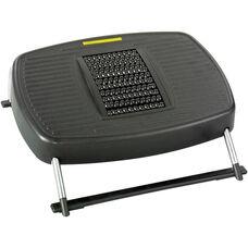 Stress Buster™ Adjustable Tilt Massaging Footrest - Black with Chrome Finish Frame