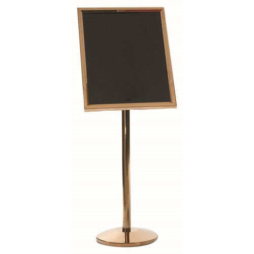Our Dual Capability Neon Marker Board and Poster Holder - Brass Base and Frame - 53.5