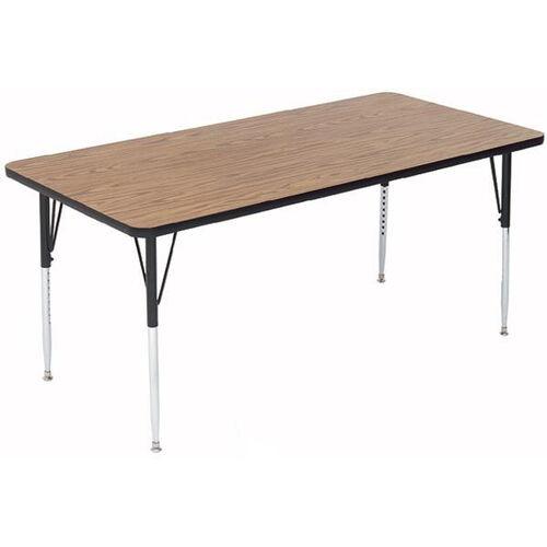 Adjustable Height Rectangular Laminate Top Activity Table - 30
