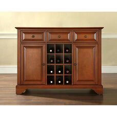 Buffet Server and Sideboard Cabinet with Wine Storage with LaFayette Style Feet - Classic Cherry Finish