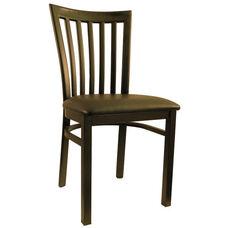 Metal Schoolhouse Chair with Black Vinyl Seat