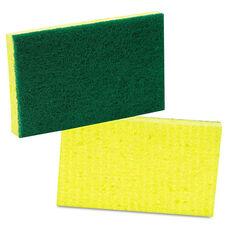 Scotch-Brite™ PROFESSIONAL Medium-Duty Scrubbing Sponge - 3 1/2 x 6 1/4 - Yellow/Green - 20/Carton
