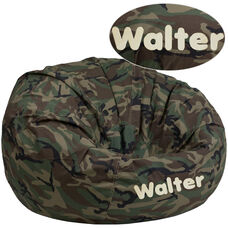 Personalized Oversized Camouflage Bean Bag Chair for Kids and Adults